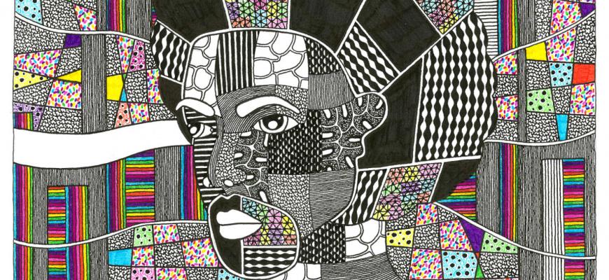 Vives couleurs et nuances de gris - Aokie Art graphique