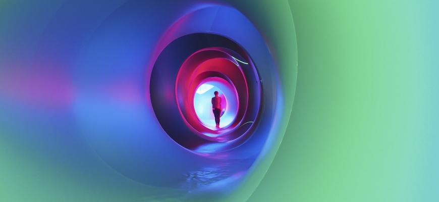 Dans les entrailles du Luminarium Photographie