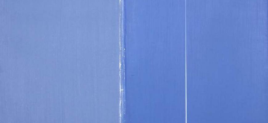 Geneviève Asse - Bleu Art contemporain