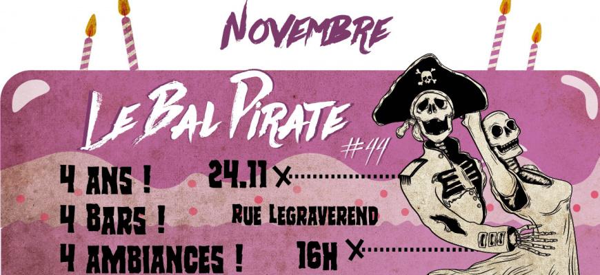 Le Bal Pirate fête ses 4 ans ! Soirée