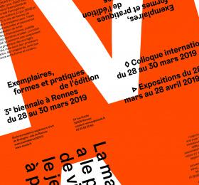 Image Exemplaires - Formes et pratiques de l'édition - Rennes 2019 Art graphique