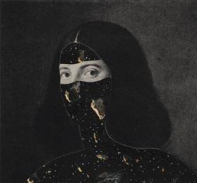 Image Silent figure with landscape Art graphique