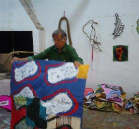 Claude Viallat - exposition personnelle de peintures récentes