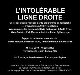 Image L'Intolérable ligne droite / La Puce à l'oreille  Art contemporain
