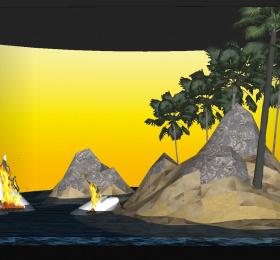 Image Crash Park, la vie d'une île de Philippe Quesne Théâtre