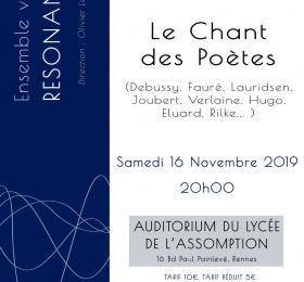 Image Ensemble Vocal Resonance : le chant des poètes Classique/Lyrique